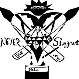 NEVER STAGNANT LOVE TRUST PAIN ? trademark