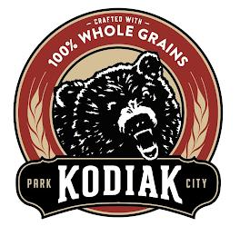 CRAFTED WITH 100% WHOLE GRAINS PARK KODIAK CITY trademark