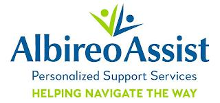 VV ALBIREOASSIST PERSONALIZED SUPPORT SERVICES HELPING NAVIGATE THE WAY trademark