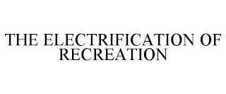 THE ELECTRIFICATION OF RECREATION trademark