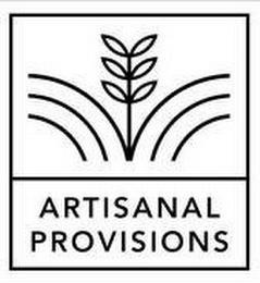 ARTISANAL PROVISIONS trademark