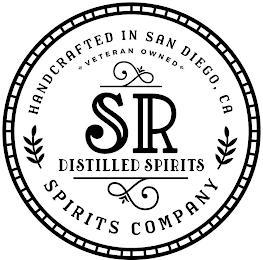 SR DISTILLED SPIRITS HANDCRAFTED IN SAN DIEGO, CA VETERAN OWNED SPIRITS COMPANY trademark