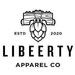 ESTD 2020 LIBEERTY APPAREL CO trademark