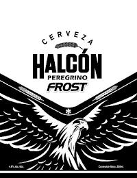 CERVEZA HALCÓN PEREGRINO FROST 4.6% ALC./VOL. CONTENIDO NETO: 350 ML. trademark