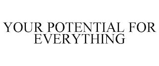 YOUR POTENTIAL FOR EVERYTHING trademark