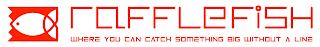 RAFFLEFISH WHERE YOU CAN CATCH SOMETHING BIG WITHOUT A LINE trademark