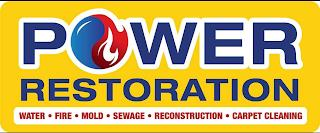 POWER RESTORATION WATER · FIRE · MOLD · SEWAGE · RECONSTRUCTION · CARPET CLEANING trademark