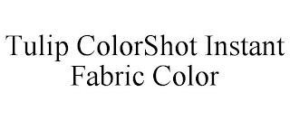 TULIP COLORSHOT INSTANT FABRIC COLOR trademark